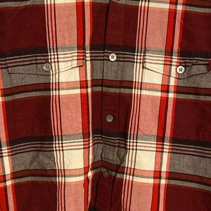 Express Shirts - Men's red and black two pocket flannel